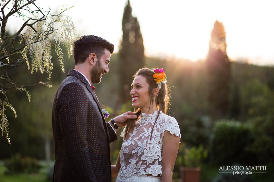 Coppia sposi matrimonio country Montaione Firenze - Fotografo matrimonio Toscana