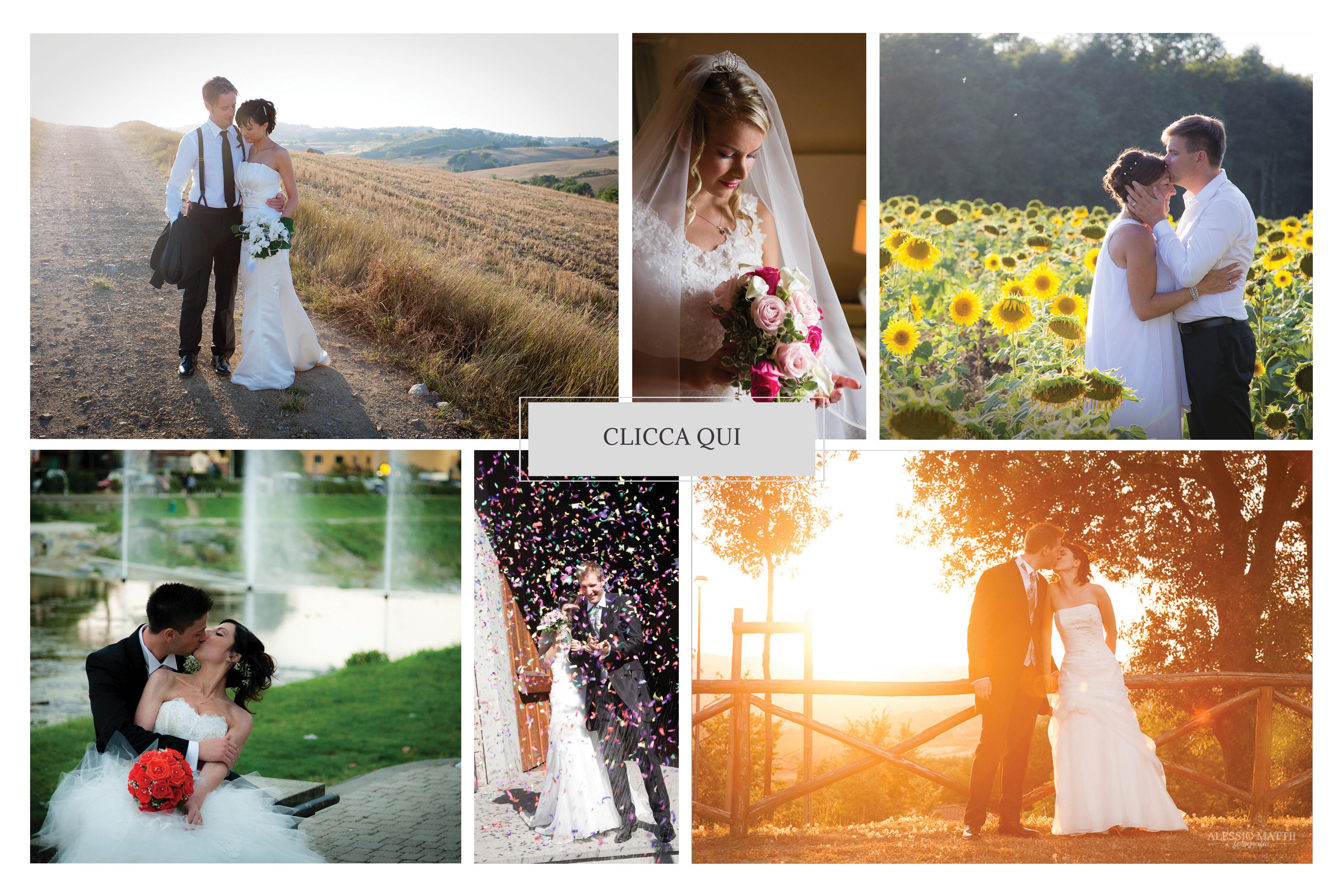 collage fotografie matrimonio toscana - matrimonio Pisa Firenze Siena Pescia