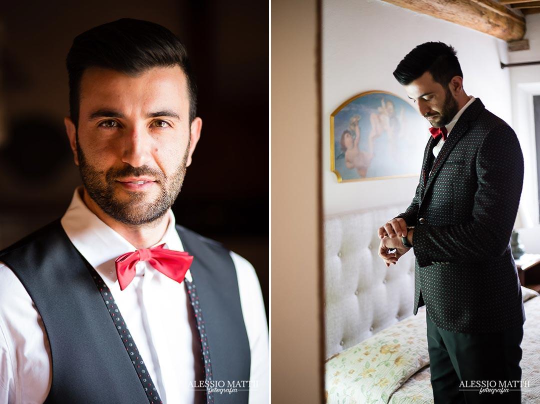Sposo matrimonio country in Toscana - Alessio Mattii Fotografo matrimonio toscana