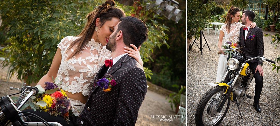 Scrambler matrimonio country in Toscana - Alessio Mattii Fotografo matrimonio toscana
