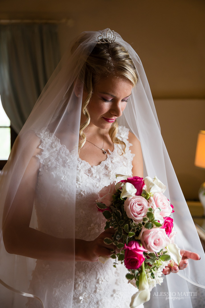 Ritratto sposa matrimonio Castellina in Chianti Toscana - fotografo matrimonio Toscana Siena