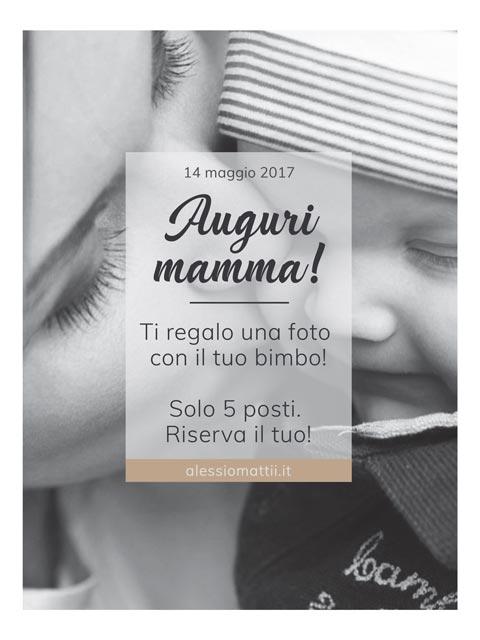 Sessione fotografica gratuita per la Festa della mamma! 14 maggio 2017 sulle mura di Lucca