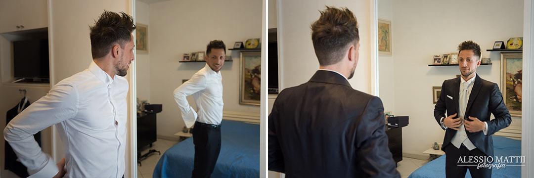 Preparativi sposo matrimonio Livorno - fotografo matrimonio livorno