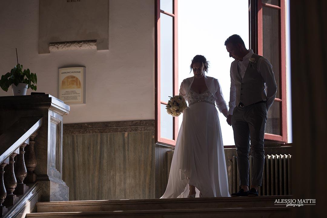 Arrivo della sposa alla Chiesa del Sacro Cuore a Livorno - fotografo matrimonio livorno